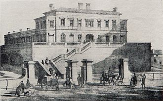 Liverpool Exchange railway station - Tithebarn Street as it was between opening in 1850 and reconstruction in 1886–88