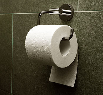 "English: Toilet paper, orientation ""under..."