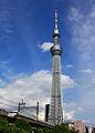Tokyo Sky Tree & Ryomo (train).JPG