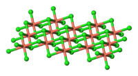 Crystal structure of anhydrous copper(II) chloride