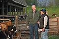 Tom Barrett talks with local dairy farmer.jpg
