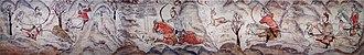 Six Dynasties - Image: Tomb of Northern Qi Dynasty in Jiuyuangang, Xinzhou, Mural 02
