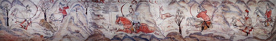 Tomb of Northern Qi Dynasty in Jiuyuangang, Xinzhou, Mural 02