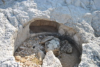 Thapsos - A rock-cut tomb in the necropolis