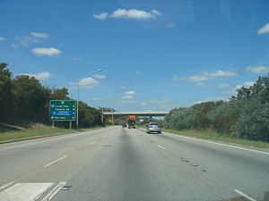 Tonkin Highway - A freeway standard section of Tonkin Highway, south of Great Eastern Highway