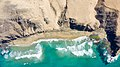 Top-down areal of the surfing beach Playa del Viejo Reyes on Fuerteventura, Canary Islands.jpg