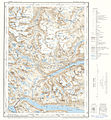 Topographic map of Norway, E30 vest Gjende, 1964.jpg