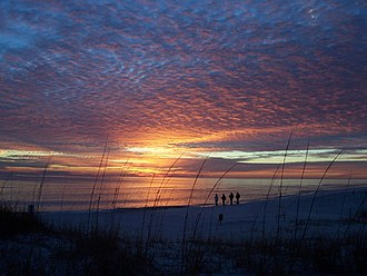 Topsail Hill Preserve State Park - Image: Topsail Hill Preserve State Park Sunset