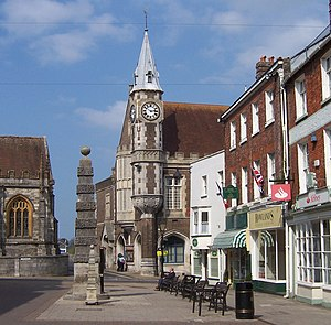 Dorchester, Dorset - Image: Town Pump and Corn Exchange Dorchester