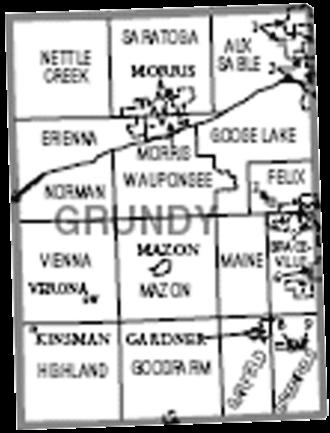 Grundy County, Illinois - Map of Grundy County, Illinois.