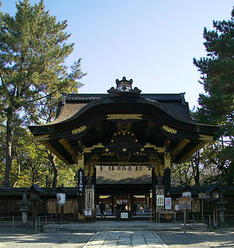 Toyokuni Shrine (Kyoto) - Karamon gate at entrance to Toyokuni Shrine
