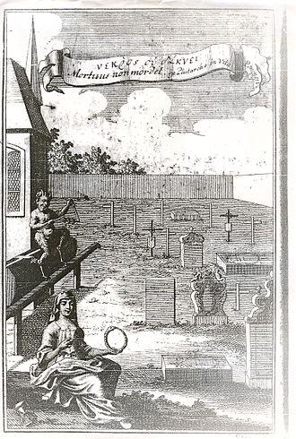 Michael Ranft - Engraving Tractat von dem Kauen und Schmatzen der Todten in Gräbern('Treatise on chewing and smacking of the dead in graves').