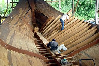 Neobalanocarpus - Chengal in traditional Malay boatbuilding on Duyong Island, 2004