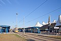 Tram in Sofia in front of Central Railway Station 2012 PD 058.jpg