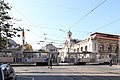 Trams in Sofia in front of Central Market Hall 2012 PD 06.JPG