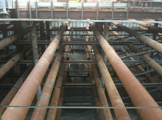 San Francisco Transbay development - A look at the Transbay Transit Center construction site.