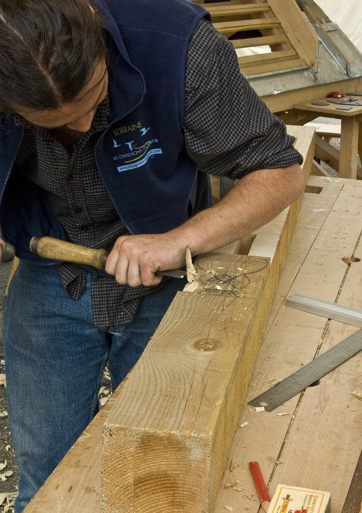 Menuisier wikip dia for Construction en bois wiki