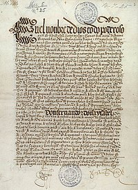 Front page of the Portuguese owned treaty