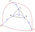 Triángulos semejantes sobre variedad.png
