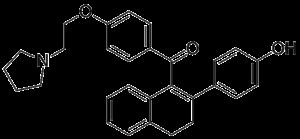 Trioxifene - Image: Trioxifene