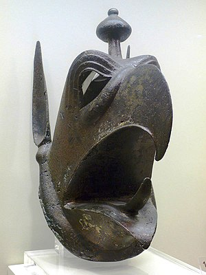 Griffin - Bronze griffin head from Olympia, Greece. 7th century BC. Olympia museum