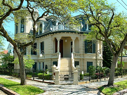 Trube Castle, one of the many historic structures that have been preserved in the city - Free State of Galveston