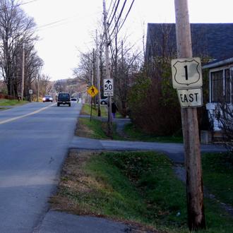 Nova Scotia Trunk 1 - Nova Scotia Trunk 1 as it passes through the town of Windsor.
