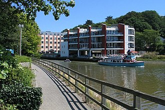 River Truro - The Truro River with a riverboat