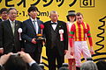 Tsurube Shofukutei and Ryan Moore - 32th The Mile Championship - Kyoto Racecourse (23203604155).jpg