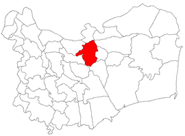 Location in Tulcea County