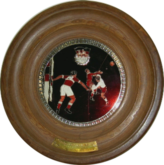 Hallescher FC - The championship plate of 1952