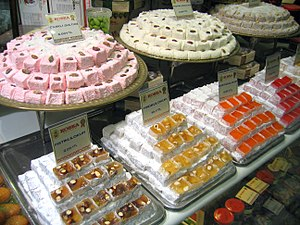 A display of Turkish Delight in Istanbul