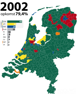 2002 Dutch general election election of the members of the House of Representatives