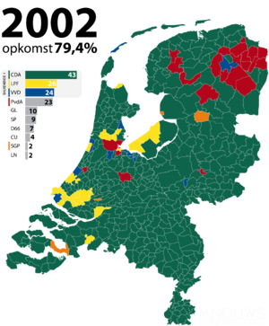 Dutch general election, 2002 - Image: Tweede Kamerverkiezingen 2002