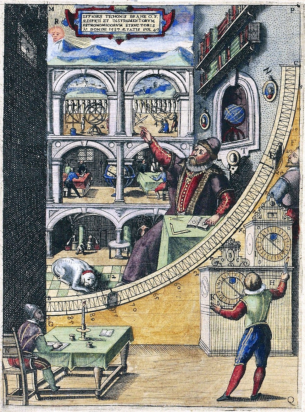 Tycho brahe howling pixel for Mural quadrant