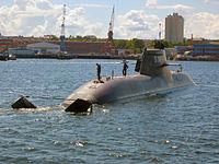 The submarine U 31 in the port of Kiel