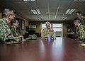 U.S. Marine Corps Lt. Gen. John A. Toolan, center, the commanding general of I Marine Expeditionary Force, meets with Japan Ground Self-Defense Force (JGSDF) Lt. Gen. Hirotaka Yamashita, left, the vice chief 140214-M-ST621-014.jpg