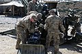 U.S. Soldiers with Alpha Battery, 2nd Battalion, 320th Field Artillery Regiment, 1st Brigade Combat Team, 101st Airborne Division practice using the Enhanced Portable Inductive Artillery Fuze Setter on an XM1156 130428-A-ZQ422-024.jpg