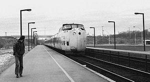 Gas turbine train - The Turbo Train at Kingston, Ontario, Canada