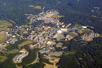 Greater Hartford - Aerial view of the UConn's main campus