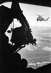 UH-34D door gun USMC Vietnam 1965