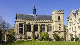 Pembroke College, Oxford - Pembroke College Hall over the Chapel Quad
