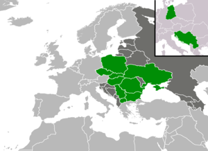 Eastern European Group - A map showing from which countries from the Eastern European Group has there been elected a President of the United Nations General Assembly as of 2017.