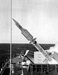 USS Harry E. Yarnell (DLG-17) launches a RIM-2 Terrier missile 1967.jpg