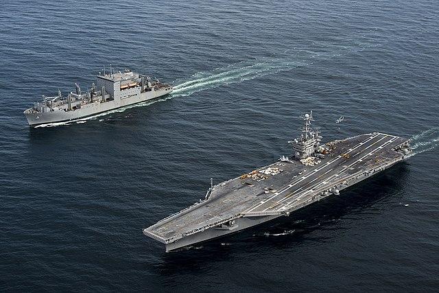 USS Harry S. Truman takes on ammunition (150603-N-NK123-359)