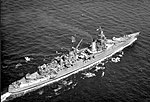 USS Indianapolis (CA-35) underway at sea, in 1943-1944 (NH 124466).jpg