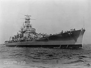 USS Massachusetts BB-59 5-12-1942 Boston Harbor.jpg