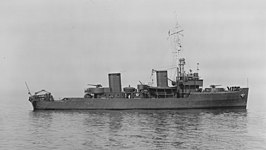 USS Osprey bij de Norfolk marinewerf op 19 april 1941