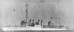 USS Thompson, during the middle or later 1920s