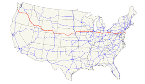 U.S. Route 30 - Image: US 30 map